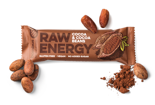Cookie Prodotti Bombus Barrette Raw Energy Cacao Fave Cacao Ingredienti Th